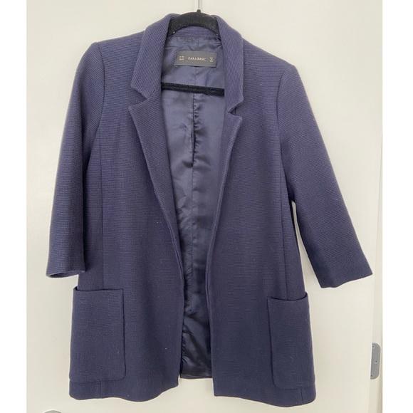 Zara Navy Blue Blazer